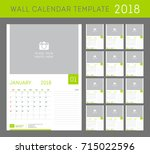 wall calendar planner template... | Shutterstock .eps vector #715022596
