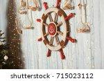 Sea Wheel On Wall With...