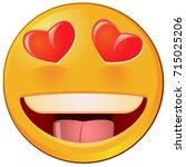 eyes of love emoji vector | Shutterstock .eps vector #715025206