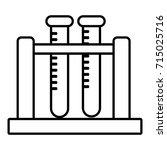 medical test tubes icon.... | Shutterstock .eps vector #715025716