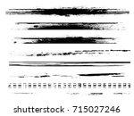 grunge paint stripe . vector... | Shutterstock .eps vector #715027246