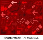 abstract background with arrows | Shutterstock .eps vector #715030666