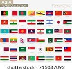 national flag of asian...   Shutterstock .eps vector #715037092
