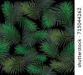 polygonal seamless deep dark...   Shutterstock .eps vector #715044262