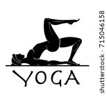 yoga related product logo | Shutterstock .eps vector #715046158