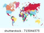 color world map. | Shutterstock .eps vector #715046575