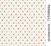 scattered letters alphabet... | Shutterstock .eps vector #715048666