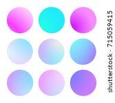 modern gradient set with round...