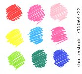 colorful pencil art stroke... | Shutterstock . vector #715064722