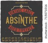 vintage label typeface named ... | Shutterstock .eps vector #715071016