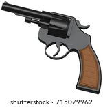 3d image of classic revolver | Shutterstock . vector #715079962