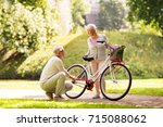 active old age  people and... | Shutterstock . vector #715088062