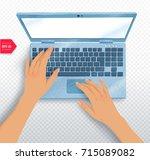 top view vector illustration of ... | Shutterstock .eps vector #715089082
