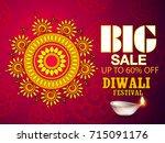 vector illustration of diwali... | Shutterstock .eps vector #715091176