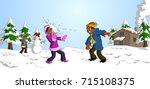 vector illustration of happy...   Shutterstock .eps vector #715108375