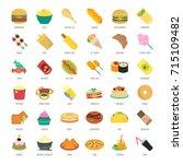 set vector illustration of fast ... | Shutterstock .eps vector #715109482