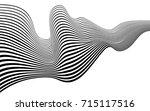 optical art abstract background ... | Shutterstock . vector #715117516