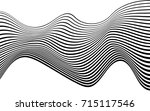 optical art abstract background ... | Shutterstock . vector #715117546