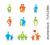 set of icons   parental love | Shutterstock .eps vector #71512486
