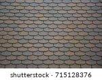 shingle roof texture | Shutterstock . vector #715128376