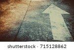 moving forward concept  arrow... | Shutterstock . vector #715128862