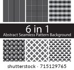 set of abstract seamless... | Shutterstock .eps vector #715129765