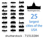 city silhouettes of the most... | Shutterstock .eps vector #71513284
