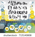 icon set based on business... | Shutterstock .eps vector #715140808