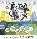 corporate travel connections | Shutterstock .eps vector #715143172
