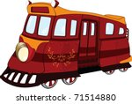 fantastic tram. cartoon. | Shutterstock .eps vector #71514880