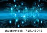 binary circuit future... | Shutterstock .eps vector #715149046