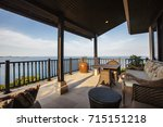 tropical luxury villa interior  ... | Shutterstock . vector #715151218