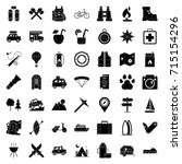 camping icons set | Shutterstock .eps vector #715154296