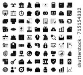 bank and finance icons set | Shutterstock .eps vector #715154332