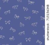 breeds of horse doodle... | Shutterstock .eps vector #715156348