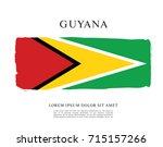 flag of guyana | Shutterstock .eps vector #715157266