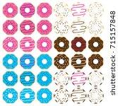 donut clip art illustrations...   Shutterstock .eps vector #715157848