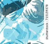 brush strokes seamless pattern... | Shutterstock .eps vector #715159378