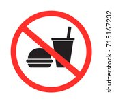 no food and drink allowed icon... | Shutterstock .eps vector #715167232