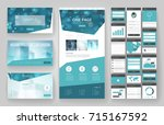 website template  one page... | Shutterstock .eps vector #715167592