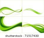 green wave patterns. vector...   Shutterstock . vector #71517430