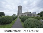 st peter and st paul's church ... | Shutterstock . vector #715175842