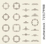 vintage decor elements and... | Shutterstock .eps vector #715179988
