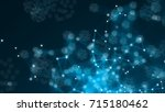 abstract connection dots....   Shutterstock . vector #715180462