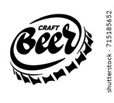 beer cap in the form of an... | Shutterstock .eps vector #715185652