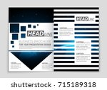 abstract vector layout... | Shutterstock .eps vector #715189318