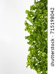 Small photo of Green vegetable with white background. Healthy food background concept GENUS ALTERNANTHERA, Alternanthera sessilis R.Br