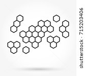 honeycomb background texture | Shutterstock .eps vector #715203406
