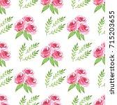 decorative seamless pattern... | Shutterstock . vector #715203655