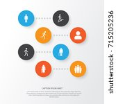 person icons set. collection of ... | Shutterstock .eps vector #715205236